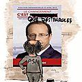 Des dessins pour les salariés de psa (2) quelques personnalités du gouvernement