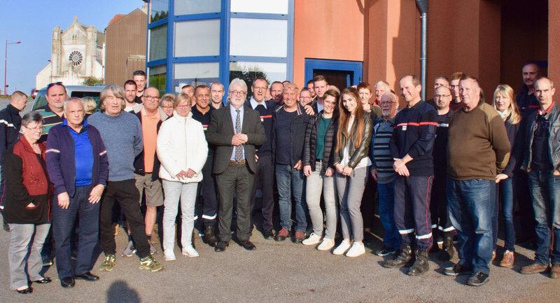 SDIS HIRSON 2019 DÉPART STÉPHANE MORAND groupe