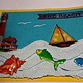 03 15 HC 3D bateau, poisson, dentelle