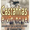 Castanhas e vin novel