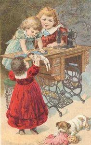 enfants et machine