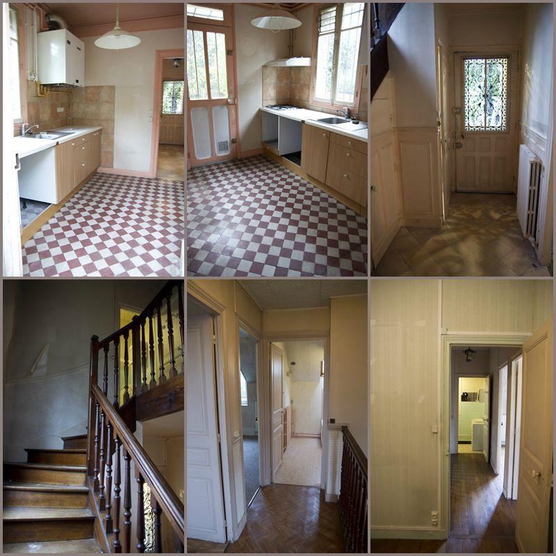 cuisine, escalier, entrée, paliers