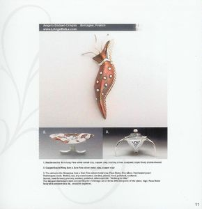 Nudibranchia pendant by Angela Baduel Crispin in Copper clay and silver clay in New Directions in Powder Metallurgy