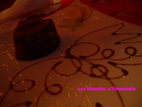 mi-cuit fondant-dégoulinant au chocolat