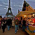 Marché de Noël au Trocadéro.