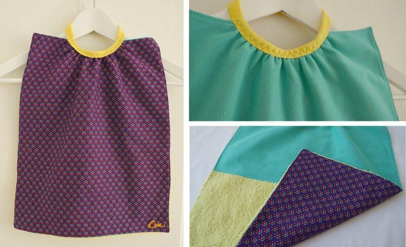 serviette élastique motif violet