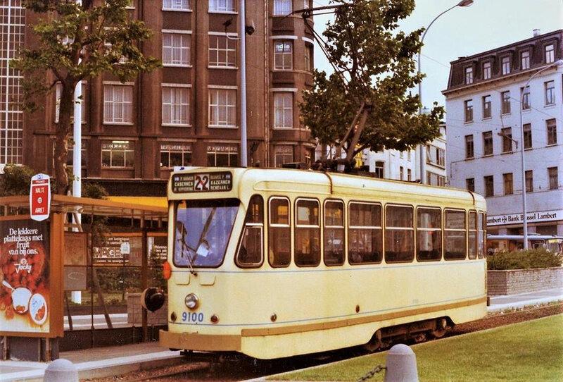 terminus du tram 22 en 1977-1978.