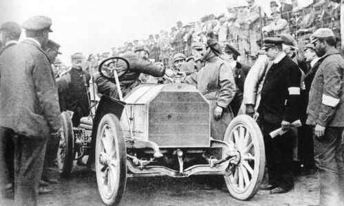 1903 gordon bennett trophy, athy, northern ireland - camille jenatzy (mercedes 9