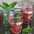 Jus de pastèque au basilic et fleur d'oranger