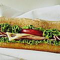 Sandwich tomates salade, gruyère