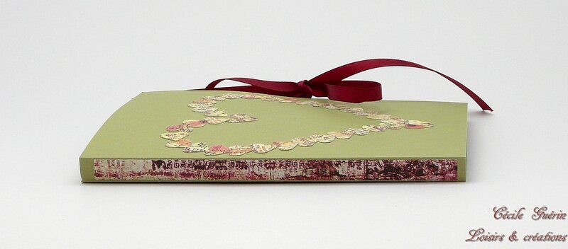 Carte surprise verte coeur rose - tranche - blog