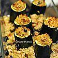 Courgettes farcies au riz