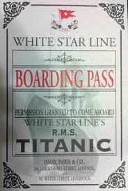 titanic boarding pass