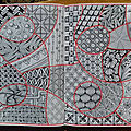Mes zentangle d'octobre 2018