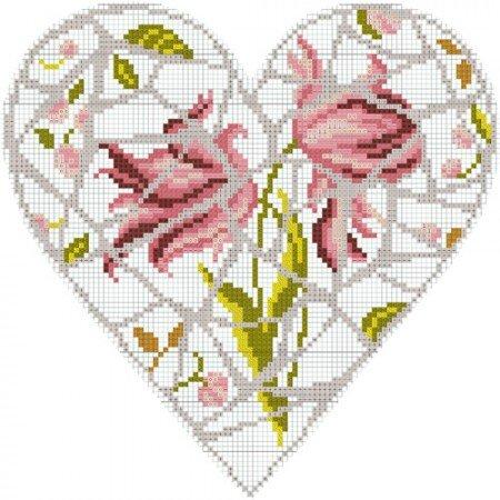 diagramme-gratuit-dmc-coeur-mosaique--450x450