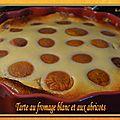 Tarte au fromage blanc (sans pâte) et aux abricots