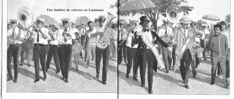 une fanfare de rue (Louisiane, USA)