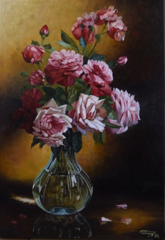 Roses dans vase
