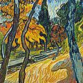 Vincent van gogh (1853-1890), arbres dans le jardin de l'asile, 1889