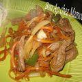 Boeuf aux oignons et légumes divers, 2 recettes pour l'année du buffle