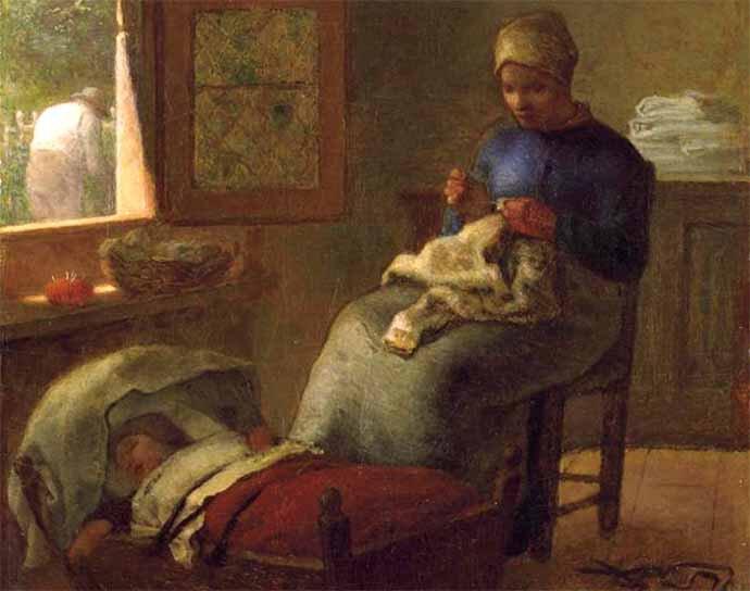 Millet Le sommeil de l'enfant