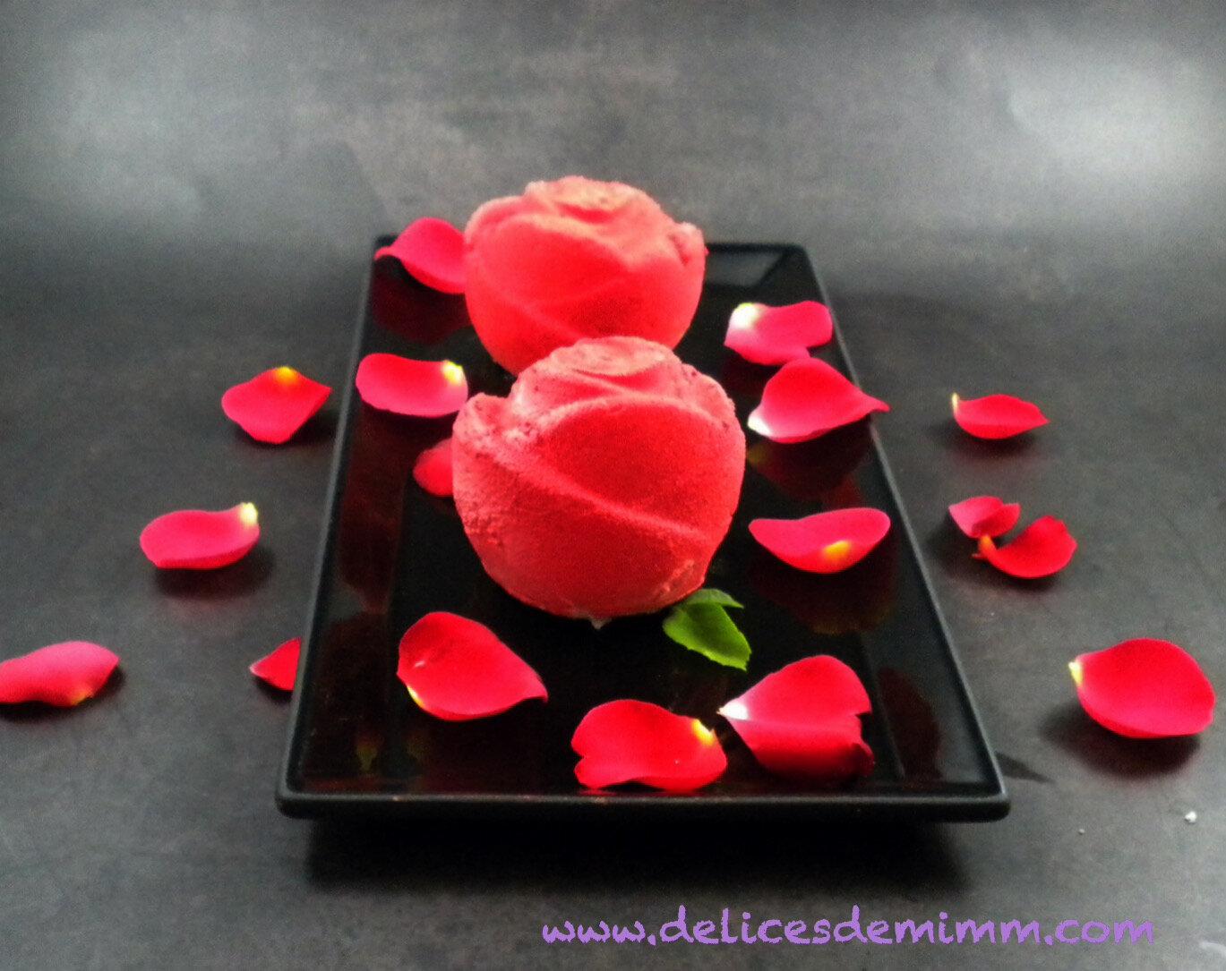 Entremets Boutons de rose