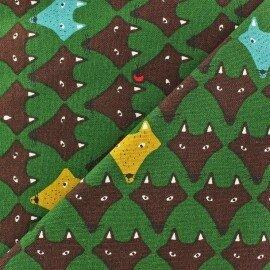tissu-fox-vert-x-10cm