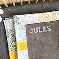 Couverture bébé personnalisée Jules